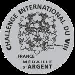 Medalla de Plata, añada 2.009, Challenge du Vin 2.013, Francia